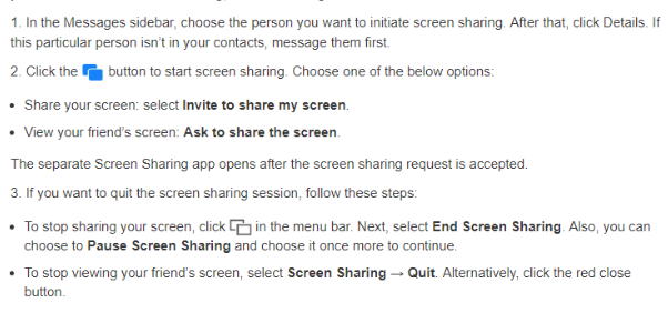 facetime screen share steps