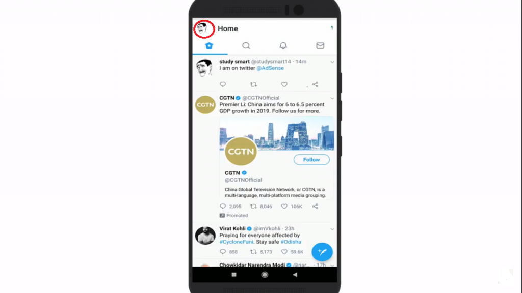 deactivate Twitter account permanently Android