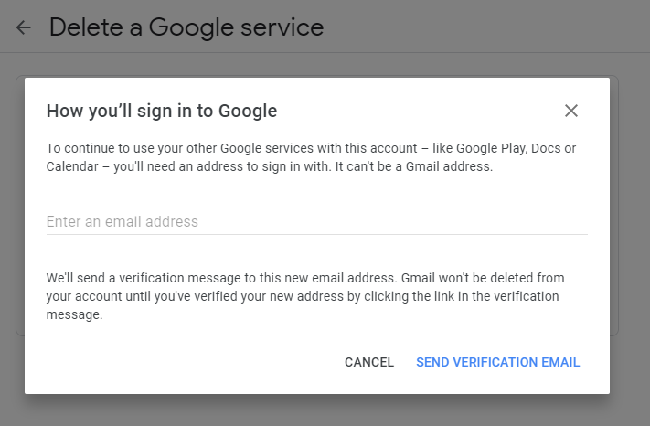 delete gmail account from desktop