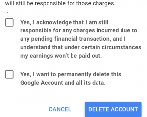 delete google account from phone