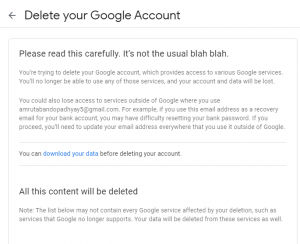 delete google account from pc