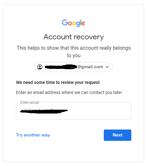 reactivate gmail