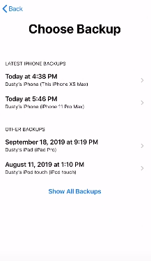 Restore iPhone Backup From iCloud