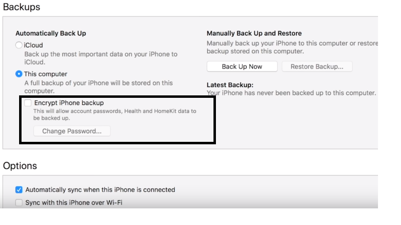 Backup iPhone To iTunes